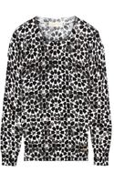 Michael by Michael Kors Printed Fineknit Cotton blend Sweater