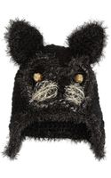 Anna Sui Embellished Crochetknit Cat Hat