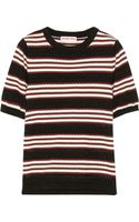 See By Chloé Striped Cotton Sweater - Lyst