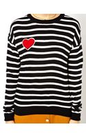 Asos Stripe Jumper with Heart Patch