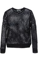 T By Alexander Wang Open Knit Sweater - Lyst