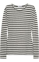 T By Alexander Wang Striped Linen and Silkblend Top - Lyst