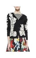 Alice + Olivia Cherrie Embroidered Lace Cardigan Alice Olivia - Lyst