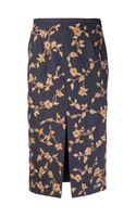 Michael Kors Floral Embroidered Skirt - Lyst