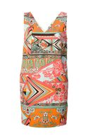 MSGM Printed Shift Dress - Lyst