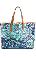 Emilio Pucci Patterned Shopper Tote - Lyst