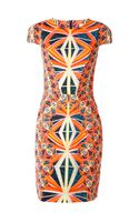 Peter Pilotto Graphic Print Fitted Dress - Lyst