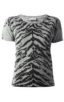 Saint Laurent Printed Tshirt - Lyst
