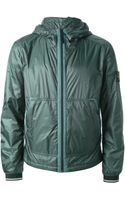 Stone Island Hooded Padded Jacket - Lyst
