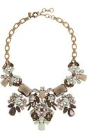 J.Crew Crystal Abundance Goldplated Crystal Necklace - Lyst