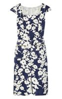 Oscar De La Renta For The Outnet Textured Cotton and Silk blend Dress - Lyst