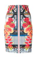 Clover Canyon Mixed Print Pencil Skirt