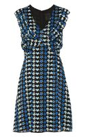 Anna Sui Printed Georgette Dress - Lyst