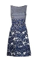 Oscar de la Renta Multi Patterned Dress - Lyst
