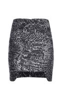 Antonio Berardi Interplanetary Metallic Brocade Mini Skirt
