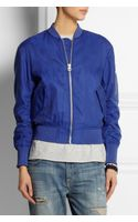 Acne Encore Struct Cottonblend Bomber Jacket - Lyst