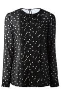 RED Valentino Sheer Polka Dot Blouse - Lyst