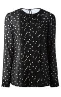 RED Valentino Sheer Polka Dot Blouse