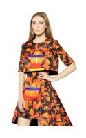 Peter Pilotto Printed Satin Crop Top