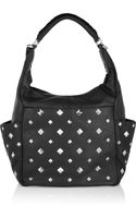 Diane Von Furstenberg Franco Pyramid Leather Shoulder Bag