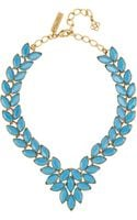 Oscar de la Renta Navette Goldplated Cabochon Necklace - Lyst