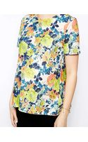 Asos Maternity Top in Textured Floral Print - Lyst