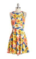 ModCloth Bright Blooms Dress