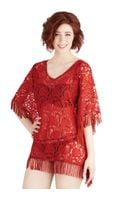 ModCloth Seaside Lounging Coverup in Red