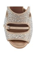 Tabitha Simmons Bailey Crystalcovered Laceup Sandal - Lyst
