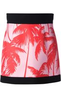 Fausto Puglisi Palm Tree Print Skirt - Lyst
