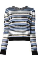 Proenza Schouler Striped Cardigan - Lyst