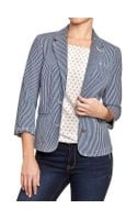 Old Navy Railroad-stripe Denim Blazer - Lyst