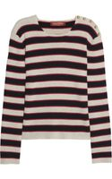 Valentino Striped Cashmere Sweater - Lyst