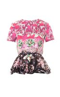 Mary Katrantzou Pompei Pinkimon Jewelprint Peplum Top