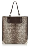 Alexander Wang Prisma Lizard Effect Leather Tote - Lyst