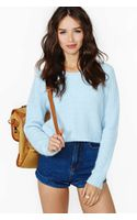 Nasty Gal Clear Skies Crop Sweater