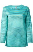 M Missoni Tonal Stripe Sweater - Lyst
