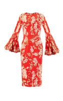 Dolce & Gabbana Roseprint Silkchiffon Dress - Lyst