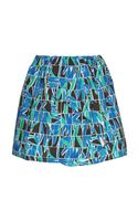Kenzo Printed Cotton Mini Skirt