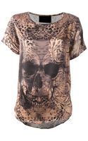 Philipp Plein Sheer Skull Print Top