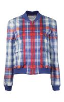 Thakoon Addition Plaid Bomber Jacket