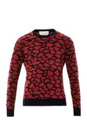 Michael Bastian Camo Leopard Knitted Sweater