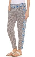 Free People Mixed Print Pleat Pants