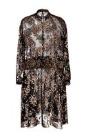 Rochas Handpainted Flower Jacquard On Chiffon Dress