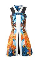 Peter Pilotto Kristen Printed Cloqué Dress - Lyst