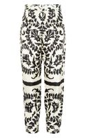 Chloé Floralprint Silk Tapered Pants - Lyst