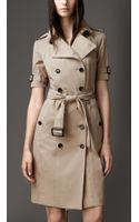 Burberry Stretch Cotton Trench Dress - Lyst