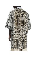 Valentino Oversized Leopardprint Dolman Coat