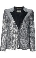 Saint Laurent Sequin Embellished Blazer - Lyst