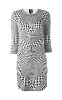 McQ by Alexander McQueen Houndstooth Print Dress